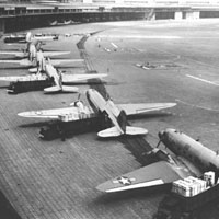 C-47s unloading at Tempelhof Airport in Berlin, during the Berlin Airlift