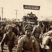 Communists entering Beijing in 1949.