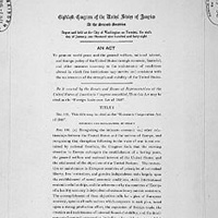 First page of the Marshall Plan