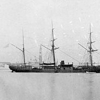 The Recommisioned USS Ticonderoga, led by Commodore Robert Shufeldt