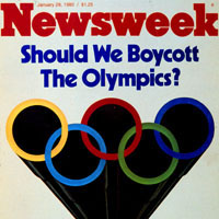 Newsweek Cover discussing the U.S. boycott of the 1980 Olympics